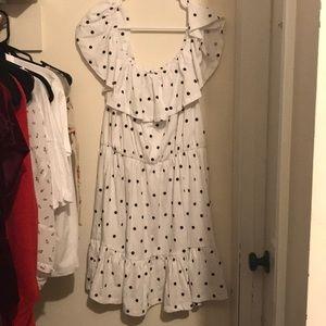 Off The Shoulder White Summer Dress